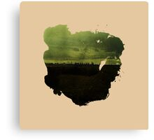 Eroded Composition | Eight Canvas Print