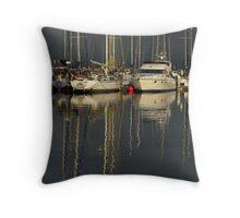 yachts Throw Pillow