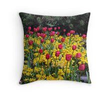 Tulips on Display Throw Pillow