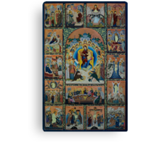 Adoration - Virgin Mary With Angels Canvas Print