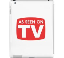 As seen on TV red sign iPad Case/Skin