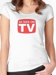 As seen on TV red sign Women's Fitted Scoop T-Shirt