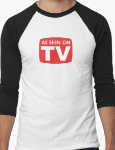 As seen on TV red sign Men's Baseball ¾ T-Shirt