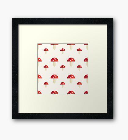 Amanita Pattern Framed Print