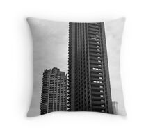 brutal barbican Throw Pillow