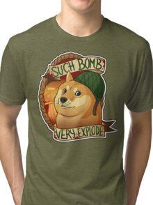Bomb Doge (OFFICIAL) Tri-blend T-Shirt