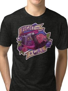 Fight Like A Girl (OFFICIAL) Tri-blend T-Shirt