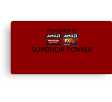 Powered By Superior Power Canvas Print