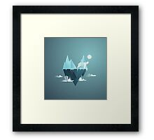 Low Poly Polar Bear Framed Print