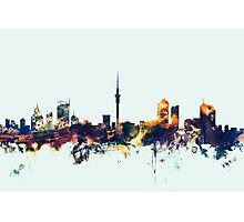 Auckland New Zealand Skyline Photographic Print