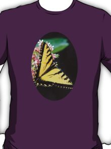 Swallowtail Butterfly and Milkweed Flowers T-Shirt