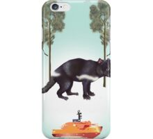 Tasmanian Devil in green iPhone Case/Skin