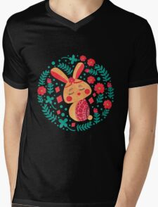 Spring Easter Bunny Mens V-Neck T-Shirt