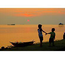 seaside frolic Photographic Print