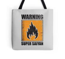 DBZ - Super Saiyan Warning Tote Bag