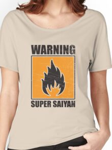DBZ - Super Saiyan Warning Women's Relaxed Fit T-Shirt