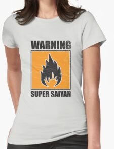 DBZ - Super Saiyan Warning Womens Fitted T-Shirt