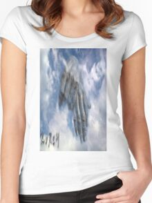 Hands in the sky Women's Fitted Scoop T-Shirt