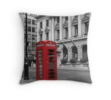 Phone Booth, London Throw Pillow