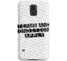 TERMS and CONDITIONS Samsung Galaxy Case/Skin
