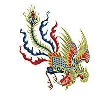 Asian Art Chinese Rooster Photographic Print