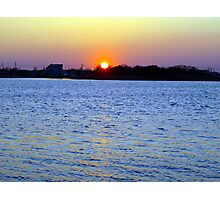 Sunset Over Barnegat Bay in Ortley Beach, NJ Photographic Print