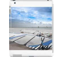 wind surfers braving the Atlantic winds iPad Case/Skin