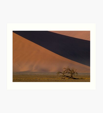 Dwarfed by Dunes - Namibia Art Print