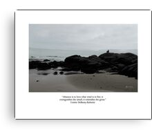 Absence to Love, Solitude at Goose Rocks Beach, York, Maine Canvas Print