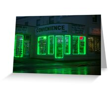 Green Electrified............ Greeting Card