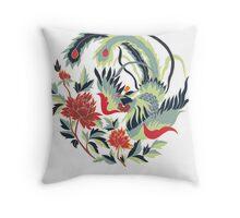 Asian Art Phoenix Throw Pillow