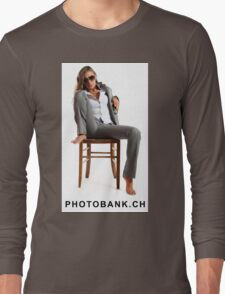 Girl sitting on the chair so sexy Long Sleeve T-Shirt