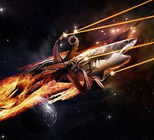 Sharktopus, in Space with Lasers! by corywaydesign
