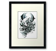 Artorias and Sif Framed Print