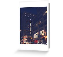 Joffrey Ballet 3 Greeting Card