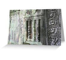 Ageing Angkor  Greeting Card