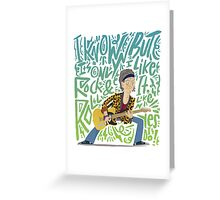 Guitar Heroes - Keith Ricahrds Greeting Card