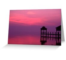 Pier and sunrise across the Potomac. Greeting Card