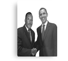 Dr Martin Luther King and Barack Obama Metal Print