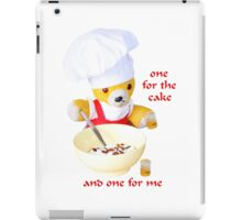 One for the cake iPad Case/Skin