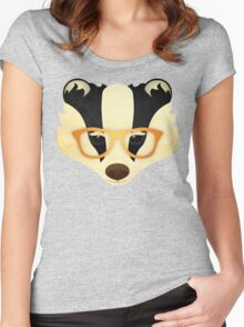 Hipster Badger: Gold Women's Fitted Scoop T-Shirt