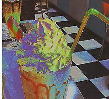 Strawberry milkshake by Ieva Samsina