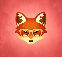 Hipster Fox: Rose by Jenny Lloyd