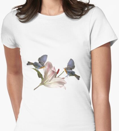 Squabbling robins Womens Fitted T-Shirt