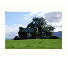 Ireland Home on a hill  Art Print