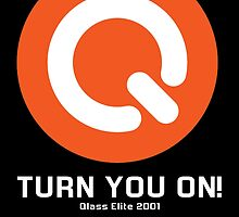 Turn You ON! - Q-Dance '01 New Logo Campaign -White Font- by juen3000