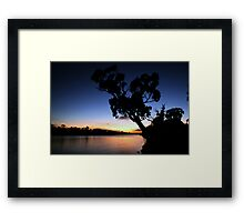 Murray River Sun Rise at Young Husband Framed Print