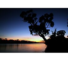 Murray River Sun Rise at Young Husband Photographic Print