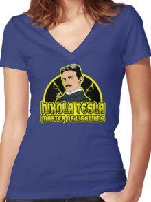 Master of lightning Women's Fitted V-Neck T-Shirt