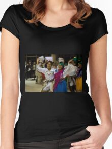 Joyful Dancers - Painting Women's Fitted Scoop T-Shirt